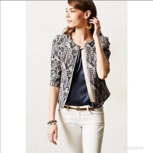 Anthro hei hei Faifo textured jacquard jacket sz 4